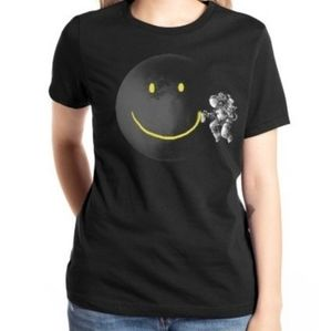 Astronaut Space Smiley Face Graphic Tee